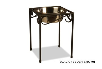 Single Black Raised Feeder  - Single