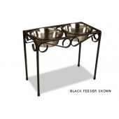 Medium Black Raised Feeder  - Medium